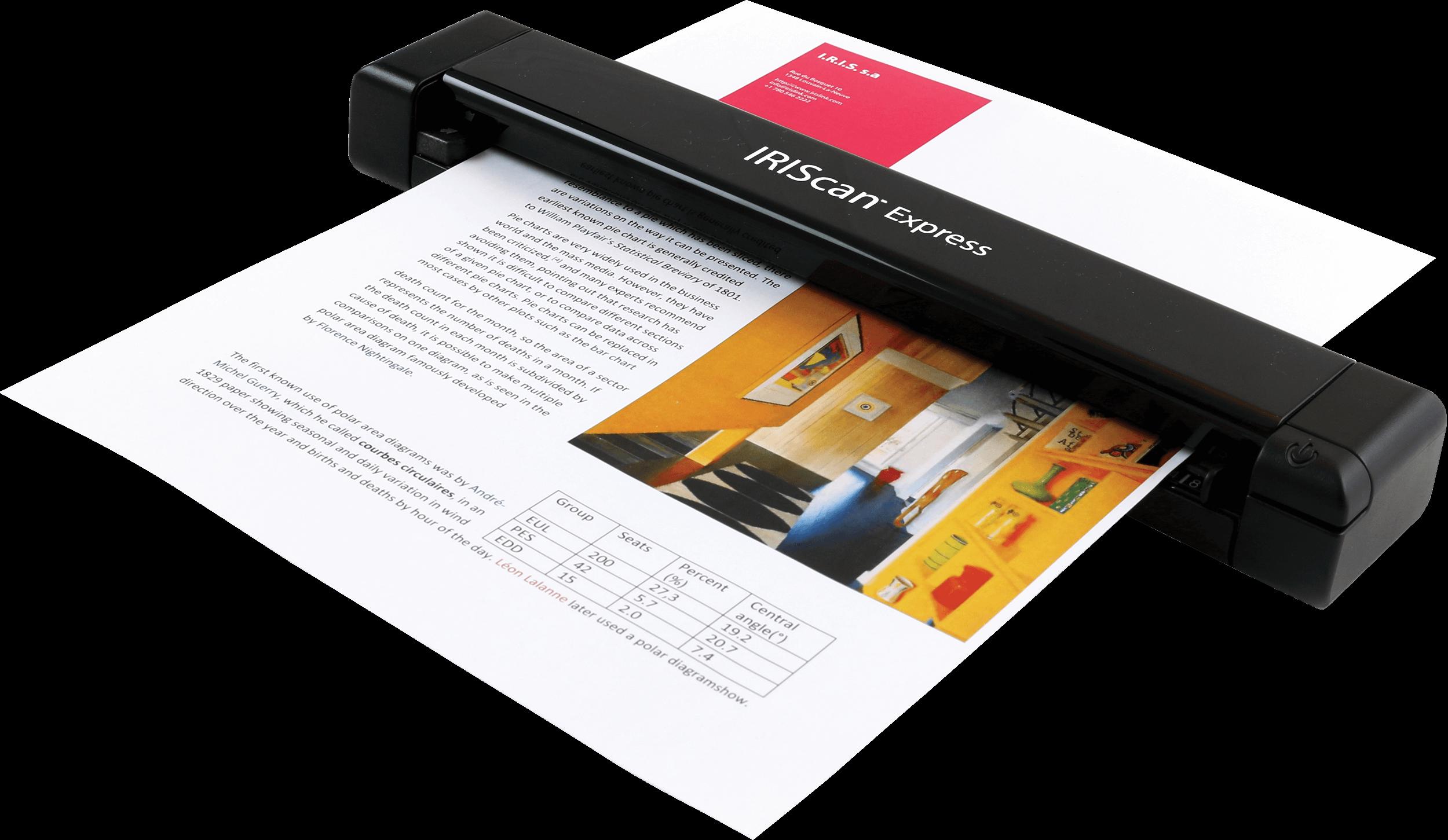 Wonderlijk IRIScan Express 4 – mobiler USB-Scanner DX-93