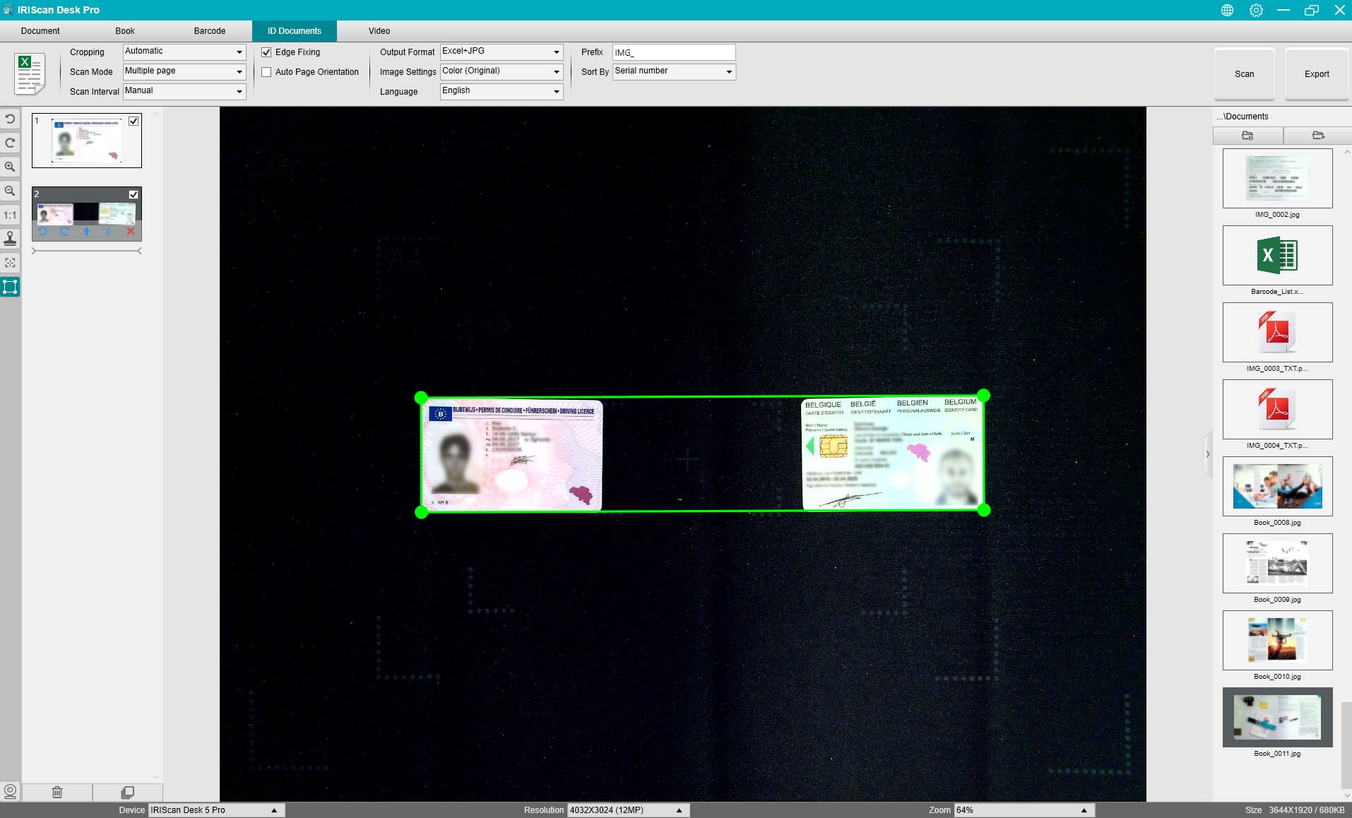 Screenshot von IRIScan Desk