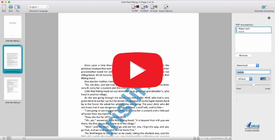 Readiris 17, the PDF and OCR solution for MAC