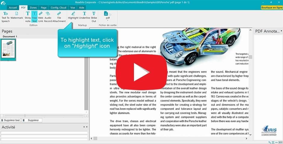 Readiris 17 a soluo pdf e ocr para o windows anotar um pdf destacar sublinhar rasurar fandeluxe Choice Image
